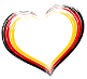 Heart in German colours